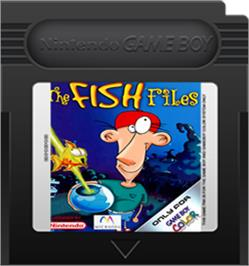 Cartridge artwork for Fish Files on the Nintendo Game Boy Color.