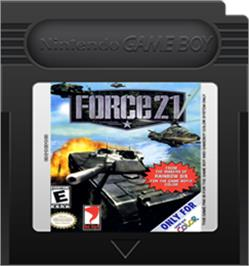 Cartridge artwork for Force 21 on the Nintendo Game Boy Color.