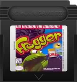 Cartridge artwork for Frogger on the Nintendo Game Boy Color.