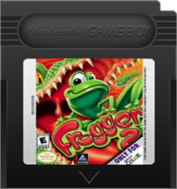 Cartridge artwork for Frogger 2 - Swampy's Revenge on the Nintendo Game Boy Color.