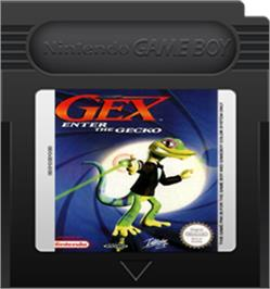 Cartridge artwork for Gex: Enter the Gecko on the Nintendo Game Boy Color.