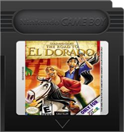 Cartridge artwork for Gold and Glory: The Road to El Dorado on the Nintendo Game Boy Color.