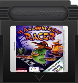 Cartridge artwork for Halloween Racer on the Nintendo Game Boy Color.