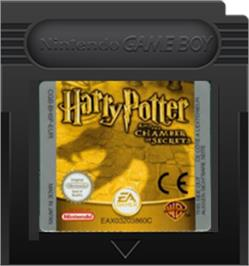 Cartridge artwork for Harry Potter and the Chamber of Secrets on the Nintendo Game Boy Color.