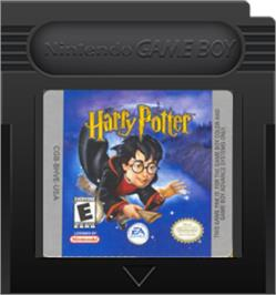 Cartridge artwork for Harry Potter and the Sorcerer's Stone on the Nintendo Game Boy Color.