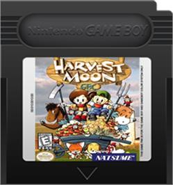 Cartridge artwork for Harvest Moon on the Nintendo Game Boy Color.