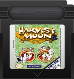 Cartridge artwork for Harvest Moon 3 GBC on the Nintendo Game Boy Color.