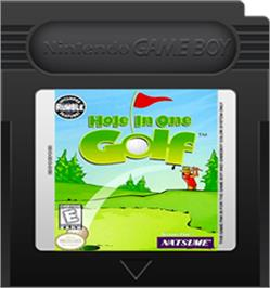 Cartridge artwork for Hole in One Golf on the Nintendo Game Boy Color.