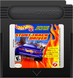 Cartridge artwork for Hot Wheels: Stunt Track Driver on the Nintendo Game Boy Color.
