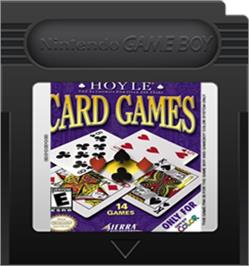 Cartridge artwork for Hoyle Card Games on the Nintendo Game Boy Color.