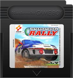 Cartridge artwork for International Rally on the Nintendo Game Boy Color.