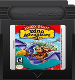 Cartridge artwork for Jump Start: Dino Adventure - Feild Trip on the Nintendo Game Boy Color.