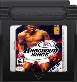 Cartridge artwork for Knockout Kings 2000 on the Nintendo Game Boy Color.