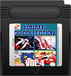 Cartridge artwork for Konami GB Collection Vol. 4 on the Nintendo Game Boy Color.