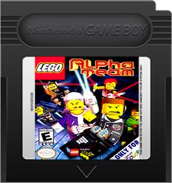 Cartridge artwork for LEGO Alpha Team on the Nintendo Game Boy Color.