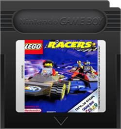 Cartridge artwork for LEGO Racers on the Nintendo Game Boy Color.