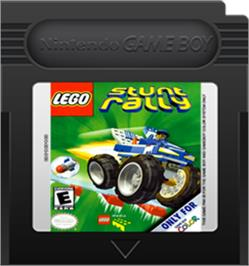 Cartridge artwork for LEGO Stunt Rally on the Nintendo Game Boy Color.