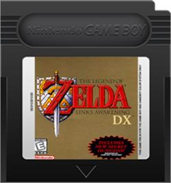 Cartridge artwork for Legend of Zelda: Link's Awakening DX on the Nintendo Game Boy Color.