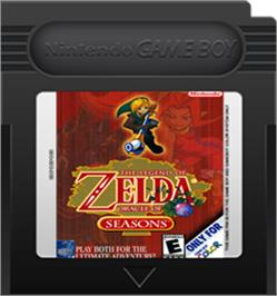 Cartridge artwork for Legend of Zelda: Oracle of Seasons on the Nintendo Game Boy Color.