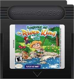 Cartridge artwork for Legend of the River King 2 on the Nintendo Game Boy Color.