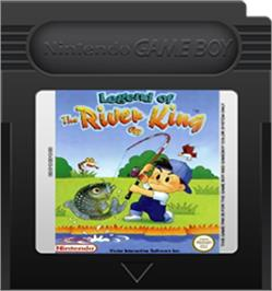 Cartridge artwork for Legend of the River King GB on the Nintendo Game Boy Color.