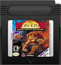 Cartridge artwork for Lion King: Simba's Mighty Adventure on the Nintendo Game Boy Color.