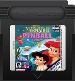 Cartridge artwork for Little Mermaid 2 on the Nintendo Game Boy Color.