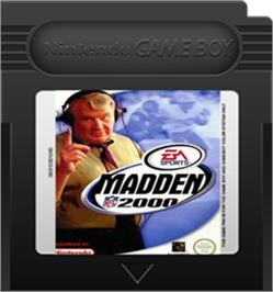 Cartridge artwork for Madden NFL 2000 on the Nintendo Game Boy Color.