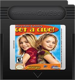 Cartridge artwork for Mary-Kate and Ashley: Get a Clue on the Nintendo Game Boy Color.