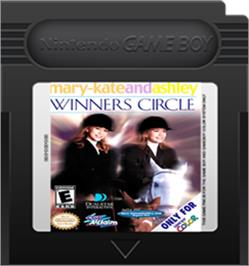 Cartridge artwork for Mary-Kate and Ashley: Winner's Circle on the Nintendo Game Boy Color.