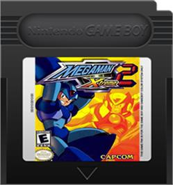 Cartridge artwork for Mega Man Xtreme 2 on the Nintendo Game Boy Color.