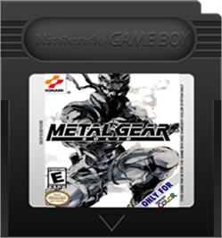 Cartridge artwork for Metal Gear Solid on the Nintendo Game Boy Color.