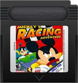 Cartridge artwork for Mickey's Racing Adventure on the Nintendo Game Boy Color.