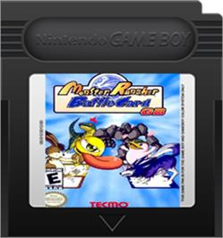 Cartridge artwork for Monster Rancher BattleCard GB on the Nintendo Game Boy Color.