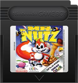 Cartridge artwork for Mr. Nutz on the Nintendo Game Boy Color.