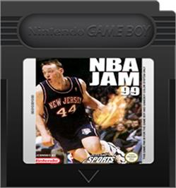 Cartridge artwork for NBA Jam 99 on the Nintendo Game Boy Color.