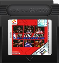 Cartridge artwork for NBA in the Zone 2000 on the Nintendo Game Boy Color.