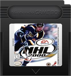 Cartridge artwork for NHL 2000 on the Nintendo Game Boy Color.