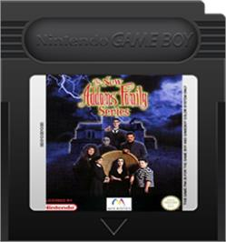 Cartridge artwork for New Addams Family Series on the Nintendo Game Boy Color.