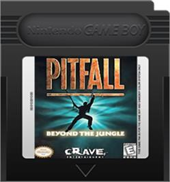 Cartridge artwork for Pitfall - Beyond the Jungle on the Nintendo Game Boy Color.