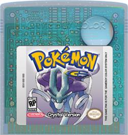 Cartridge artwork for Pokemon: Crystal Version on the Nintendo Game Boy Color.