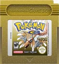 Cartridge artwork for Pokemon: Gold Version on the Nintendo Game Boy Color.
