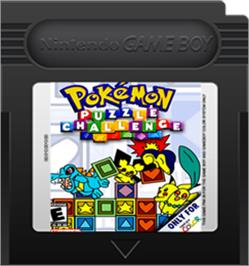Cartridge artwork for Pokemon Puzzle Challenge on the Nintendo Game Boy Color.