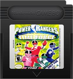 Cartridge artwork for Power Rangers: Time Force on the Nintendo Game Boy Color.