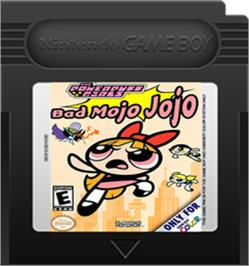 Cartridge artwork for Powerpuff Girls: Bad Mojo Jojo on the Nintendo Game Boy Color.