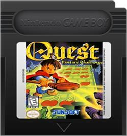 Cartridge artwork for Quest - Fantasy Challenge on the Nintendo Game Boy Color.