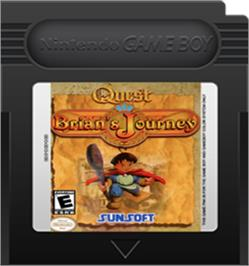 Cartridge artwork for Quest RPG - Brian's Journey on the Nintendo Game Boy Color.