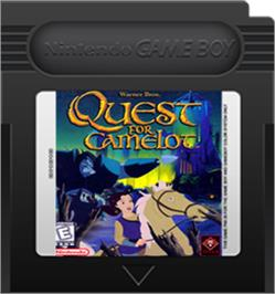 Cartridge artwork for Quest for Camelot on the Nintendo Game Boy Color.
