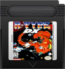 Cartridge artwork for R-Type DX on the Nintendo Game Boy Color.