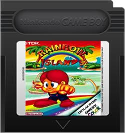 Cartridge artwork for Rainbow Islands on the Nintendo Game Boy Color.
